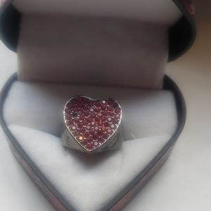 Guess | Designer Chunky Heart Ring | Gently Used